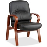Lorell Woodbridge Leather Side Chair