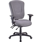Lorell Accord Managerial Mid-Back Task Chair - Black Frame - Foam Gray Seat