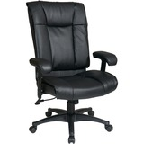 Office Star WorkSmart EX9382 Executive High Back Leather Chair