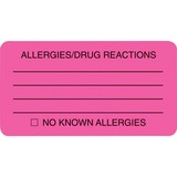 Tabbies Allergy/Drug Reaction Label