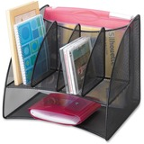 Safco Mesh Corner Organizer - 13' x 15' x 11' - Steel - Black