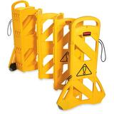 Rubbermaid 9S11 Portable Mobile Safety Barrier