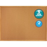 Quartet Oak Frame Bulletin Board with Brackets 308