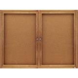 Quartet Enclosed Cork Bulletin Board for Indoor Use