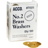 Acco Solid Brass Round Head Fastener Washer