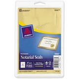 "Avery Print or Write Notarial & Certificate Seal - Burst - 2"" Diameter - Permanent - For Award, Certificate, Envelope - Golden"