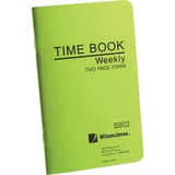 Wilson Jones Foreman's Pocket Size Time Books