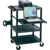 Quartet Multimedia Projector Cart - Plastic - Black