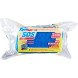 Clorox S.O.S. All-Surface Scrub Sponge - 3 / Pack - Blue