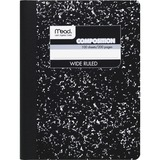 Mead Square Deal Composition Book - 100 Sheet(s) - Wide Ruled - 7.5' x 9.75' - 1 Each - White