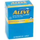 Acme Aleve Pain Reliever Tablets - Arthritis, Headache, Muscular Pain, Toothache, Backache, Common Cold, Menstrual Cramp - 50 / Box