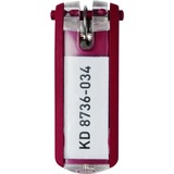 Durable Key Tag - Plastic - Red