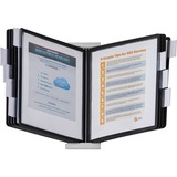 Durable InstaView Desktop Reference System - 10 Panels - Letter Size - White, Black