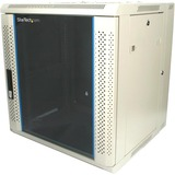 StarTech.com 12U 19in Hinged Wall Mount Server Rack Cabinet w/ Vented Glass Door RK1219WALH