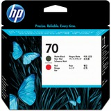 HP No. 70 Matte Black and Red Printhead - C9409A