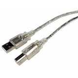 Cables Unlimited 10ft USB 2.0 Clear A to B Cable