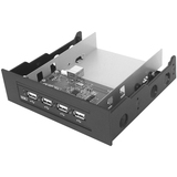 SIIG Hi-Speed USB 4-Port Bay Hub (Black) JU-H42B22-S2
