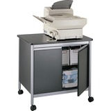 Safco Machine Stand - Steel - Black, Gray - 1872BL