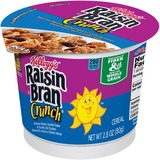 Kellogg's Raisin Bran in a Cup Cereal - Plump Raisins, Crunchy Flakes, Honey Touched Oat, Granola Clusters - Cup - 6 / Box