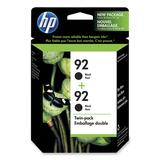HP 92 Twin Pack Black Ink Cartridge C9512FC#140