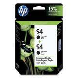 HP No. 94 Twin Pack Black Ink Cartridge