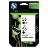 HP 56 Twin Pack Black Ink Cartridge C9319FC#140