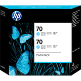 HP No. 70 Twin Pack Light Cyan Ink Cartridge