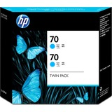 HP 70 Twin Pack Cyan Ink Cartridge CB343A