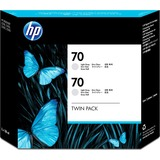 HP 70 Twin Pack Light Grey Ink Cartridge CB342A