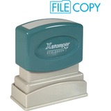 Shachihata Xstamper Pre-Inked Stamp - 0.5' x 1.62' - Light Blue