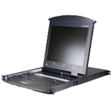"Aten Hideaway 17"" LCD with IP Over the NET & 16-Port KVM Switch KL9116M"