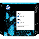HP 70 Twin Pack Blue Ink Cartridge CB349A