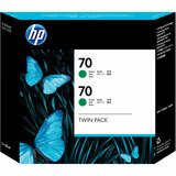 HP No. 70 Twin Pack Green Ink Cartridge