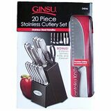 DouglasQuikut Ginsu 20-Pieces Stainless Traditional Block Set