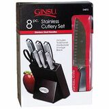 DouglasQuikut Ginsu 8-Piece Stainless Traditional Block Set
