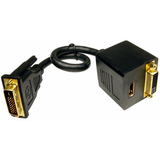 Cables Unlimited 12in DVI-D to DVI-D & HDMI Cable Splitter
