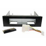 Cables Unlimited 3.5' to 5.25' Floppy Mounting Kit Bracket (Black)