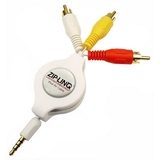 Cables Unlimited Ziplinq Retractable iPod 3.5mm to RCA Audio/ Video Cable