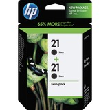 HP No. 21 Twinpack Black Ink Cartridge