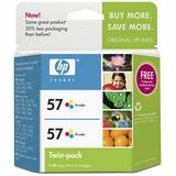 HP No. 57 Twinpack Tri-color Ink Cartridge - C9320FN140