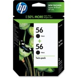 HP No. 56 Twinpack Black Ink Cartridge