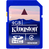 Kingston 4GB Secure Digital High Capacity Card (Class 4) SD4/4GB