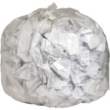 Genuine Joe Clear Flat Bottom Trash Can Liners 01016