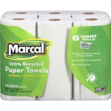 Marcal 2 Ply Quilted Roll Paper Towel - Paper Towel - 2 Ply - 150 sheets/roll - White