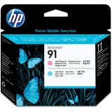 HP No.91 Light Magenta and Light Cyan Printhead - Inkjet - Light Cyan, Light Magenta - 1