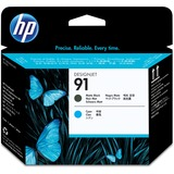 HP No.91 Matte Black and Cyan Printhead
