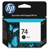 HP 74 Black Ink Cartridge CB335WC#140
