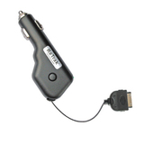 Emerge Retractable iPod Car Power Charger (Black)