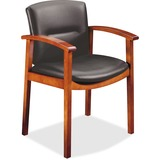 HON Park Avenue Hardwood and Leather Guest Chair