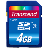 Transcend 4GB Secure Digital High Capacity (SDHC) Card - Class 6